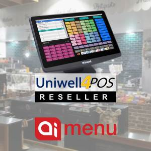 Uniwell POS Ai Menu Point of Sale Solutions for cafes restaurants bakeries fast food QSR food retail bars pubs hotels clubs